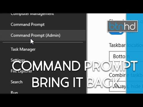 Put the Command Prompt Back On The Start Menu in Windows 10