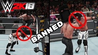 10 Banned Things You Can Do In WWE 2K18