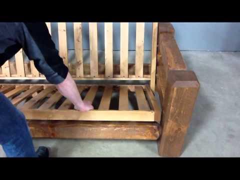 Viking Log Furniture: Barnwood Futon Assembly