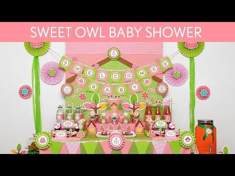 Sweet Owl Baby Shower Ideas // Sweet Owl - S41