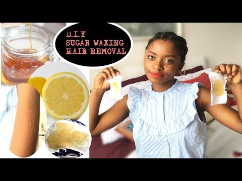 BEAUTY HACK: D.I.Y SUGAR WAXING How To Get Rid Of Unwanted Facial/ Body Hair!