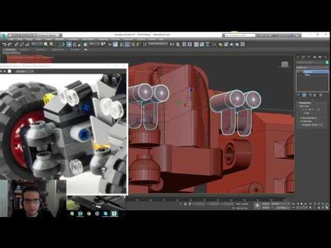 Lego Batman 2017 - Batmobile Modeling Tutorial - Part 15