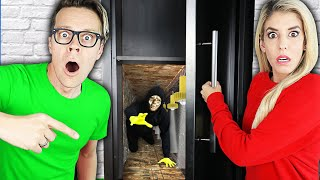 Exploring Secret Hidden Tunnel in Matt and Rebecca's New House!