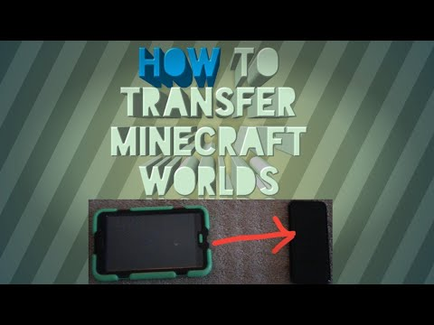 How to Transfer Minecraft PE Worlds *no apps or computer