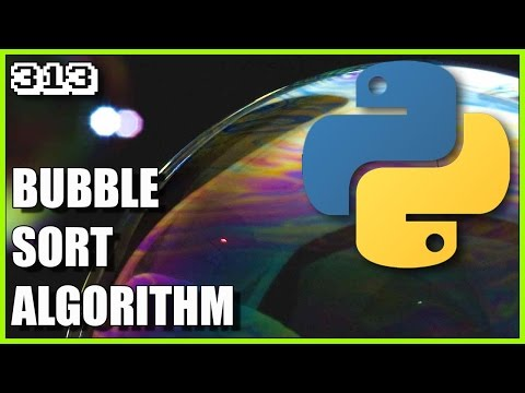 Sorting algorithms in Python - Bubble Sort example