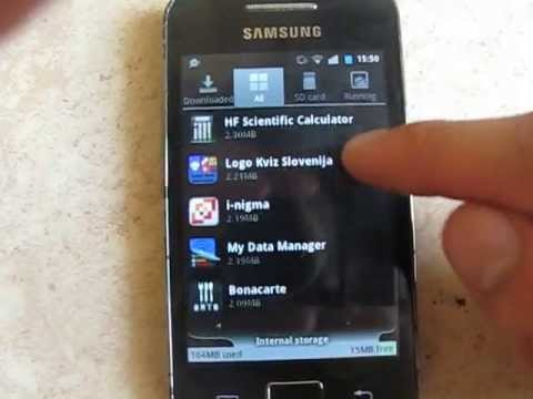 Internal memory on samsung galaxy ace