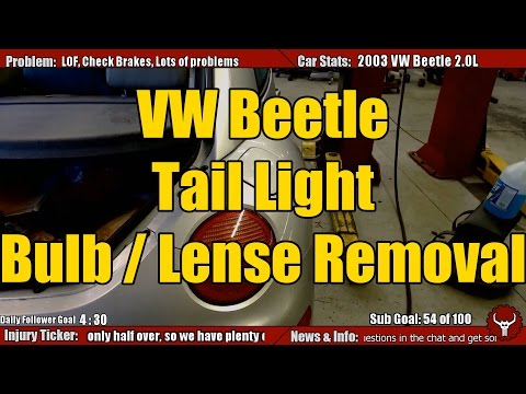 VW Beetle Tail Light Lense Removal and Bulb Change