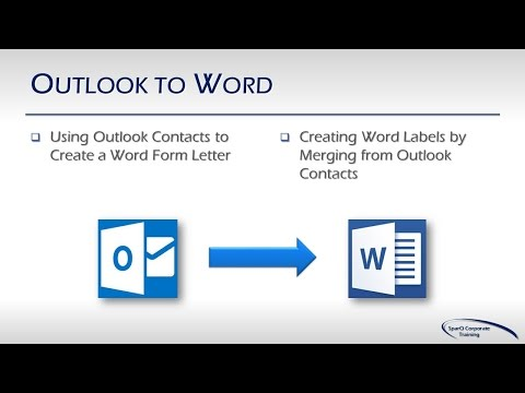Office Integration - Part 2a of 10 Parts -  Outlook to Word