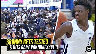 Bronny James HITS GAME WINNING SHOT & Makes Crowd RUSH THE FLOOR After Getting TESTED!