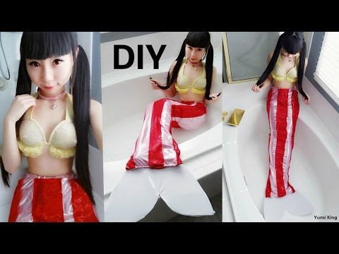 DIY Bacon Mermaid Costume: DIY Mermaid Bra + Tail + Clothing Review