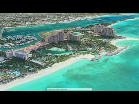 FLYING OVER NASSAU, BAHAMAS [WITH 3D FLYOVER]
