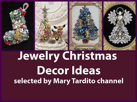 Jewelry Christmas Decor Ideas – Repurposed Bijoux Christmas Decor Ideas