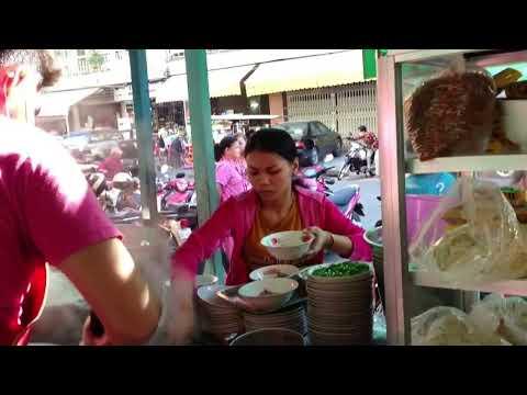 Street Food in Phnom Penh City | Noodle Soup Making Video