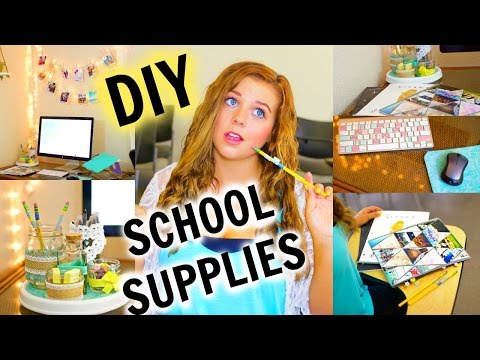 DIY School Supplies/Organization ♡ Back to School 2015!