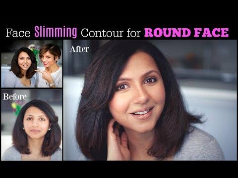 ROUND FACE MAKEUP TUTORIAL: How to cream contour and highlight/ Blushwithme-Parmita