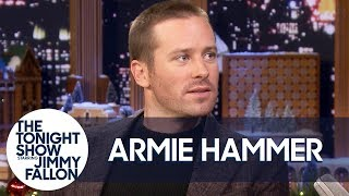 Armie Hammer Shaves His Head Backstage Before His Interview with Jimmy