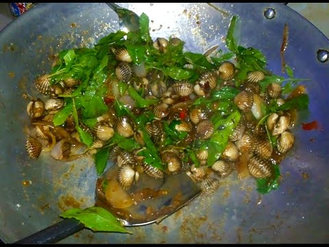 Asian Home Food - Spicy, Fried Sea Shells - Youtube