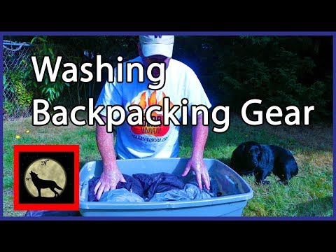 Washing Backpacking Gear..Tents and Tarps using Nikwax for the cleaning, waterproofing and UV