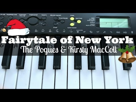 Fairytale of New York - The Pogues & Kirsty MacColl | Easy Keyboard Tutorial With Notes