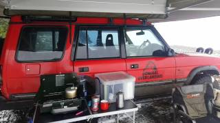 First Test Of Bundutec Bunduawn 360 Degree Awning And It Snowed In Mid March!!!!
