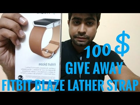 Fist YouTube Earning Giveaway Fitbit Lather Strap 100$
