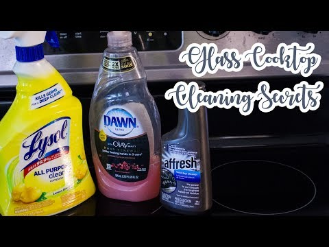 GLASS COOKTOP CLEANING SECRETS | HOW TO CLEAN A GLASS COOKTOP | CLEAN WITH ME