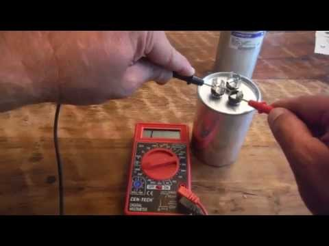 How to test a Dual Run Capacitor from Air Conditioner with a Multimeter