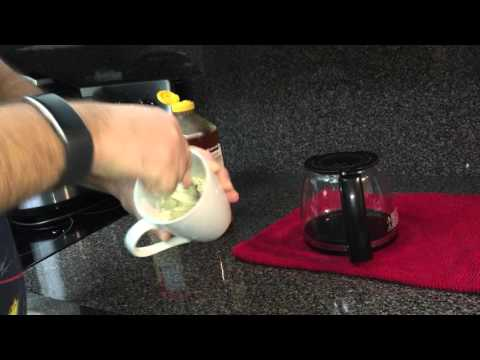 Simple trick to make a creamy cup of coffee with just cream and honey/sugar.