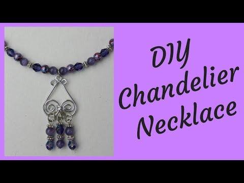 DIY Chandelier Necklace Tutorial