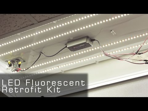 UL Listed LED Fluorescent Retrofit Kit  rather LED Tubes