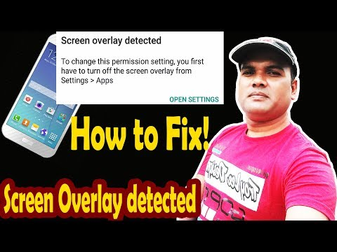 Screen overlay Detected issue solve process