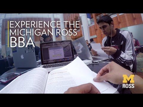 Experience The Michigan Ross BBA