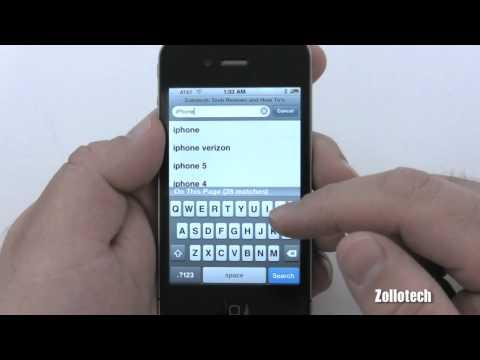 iPhone 4 Tips - Safari