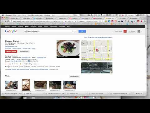 Using Rich Snippets To Extend Google Places Data