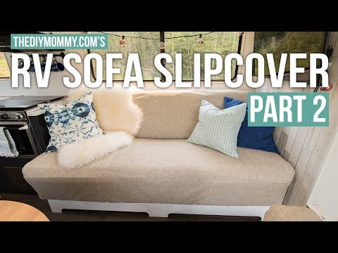 How to Sew a Slipcover for an RV Jackknife Sofa | PART TWO | Vlogust Day 31