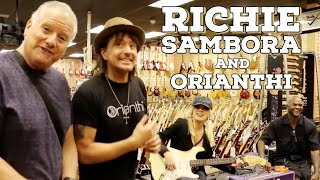 Richie Sambora and Orianthi shops at Norman's Rare Guitars