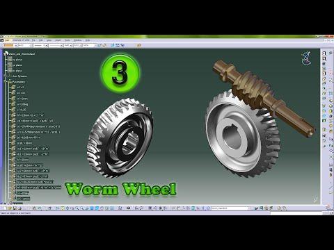 worm and worm gear (웜과 웜기어) -  catia
