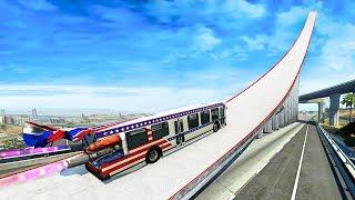99.9% IMPOSSIBLE BUS STUNTS CHALLENGE! - BeamNG Drive