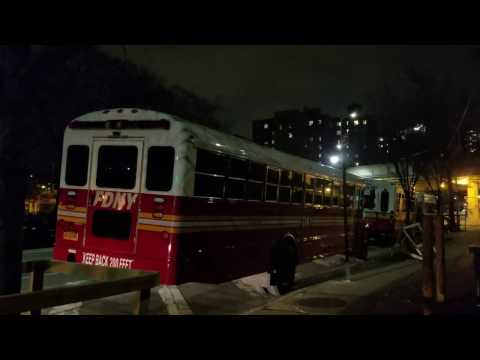FDNY New Transport Buses Parked In Brooklyn, New York
