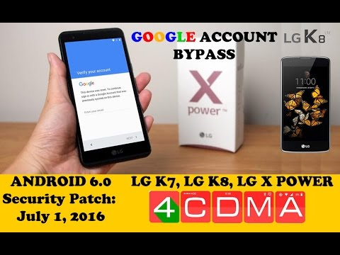 LG K3 K7 K8 X Power Tribute5 FRP Google Account Bypass