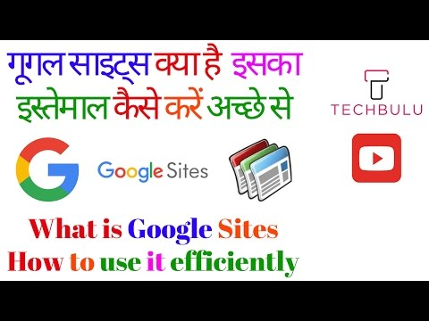 How to create a google site-Website-Tutorial-Step by Step Procedure-100% Free-Explained-In Hindi