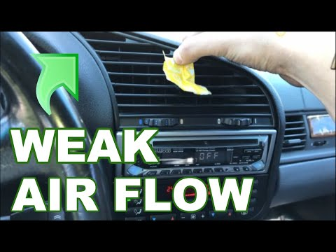 How to Change Cabin Filter BMW E36 - BEFORE and AFTER Results AMAZING (Fix Low Air Flow)