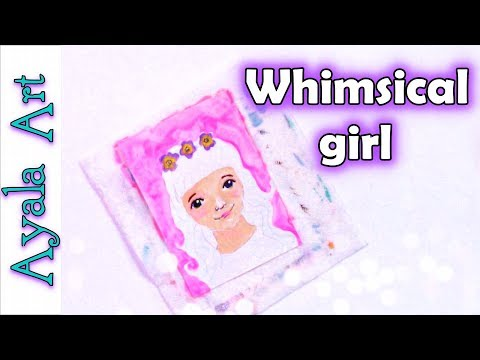 Paint the face of a Whimsical girl | draw an easy face step by step | 29 faces challenge by AyalaArt