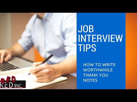 How to Write Worthwhile Thank You Notes to Employers