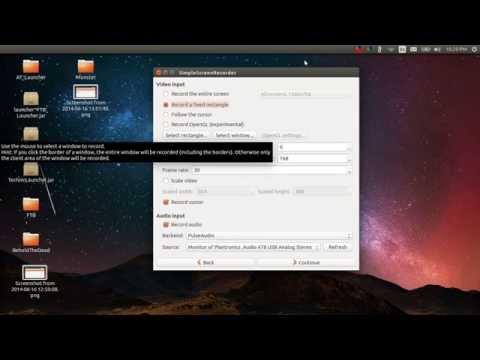 Simple Screen Recorder Tutorial for Ubuntu Linux