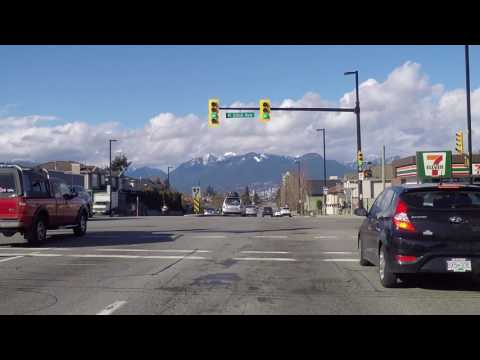 The Streets of Vancouver - Knight Street 2017 - Driving in Canada - Amazing VIEW