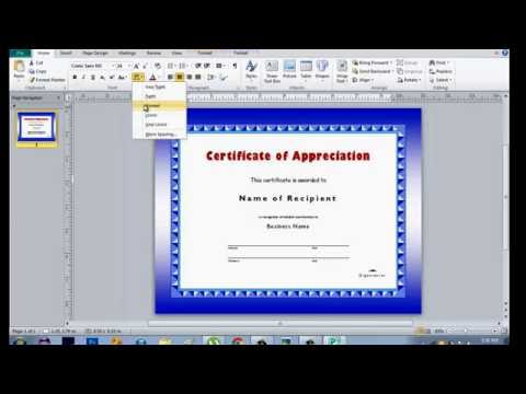 How to make Certificate using Microsoft Publisher
