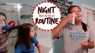BACK TO SCHOOL NIGHT ROUTINE 2019! EMMA AND ELLIE