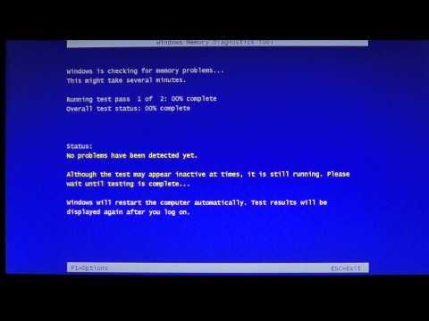 Windows 8 Memory diagnostics tool for ram problems