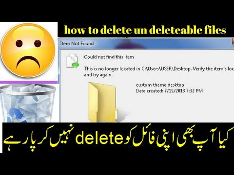 how to delete undeleable files item not found error